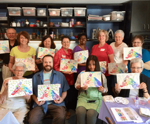 Gilda's Club Middle Tennessee painting class